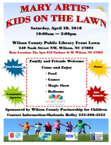 kids on the lawn library event